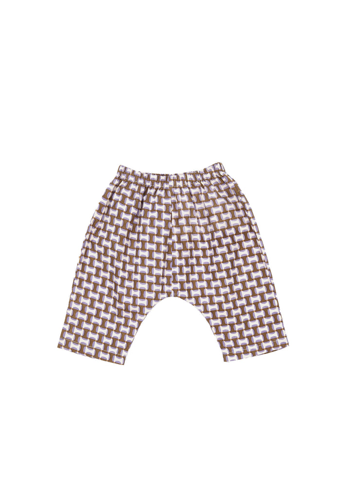 MAGNOLIA BABY TROUSERS,LILAC GEO PRINT - Cemarose Children's Fashion Boutique