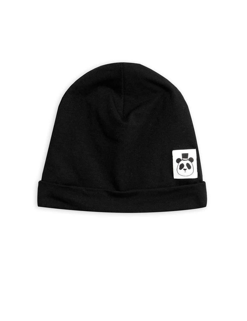 MINI RODINI Basic beanie - drop 1, Black