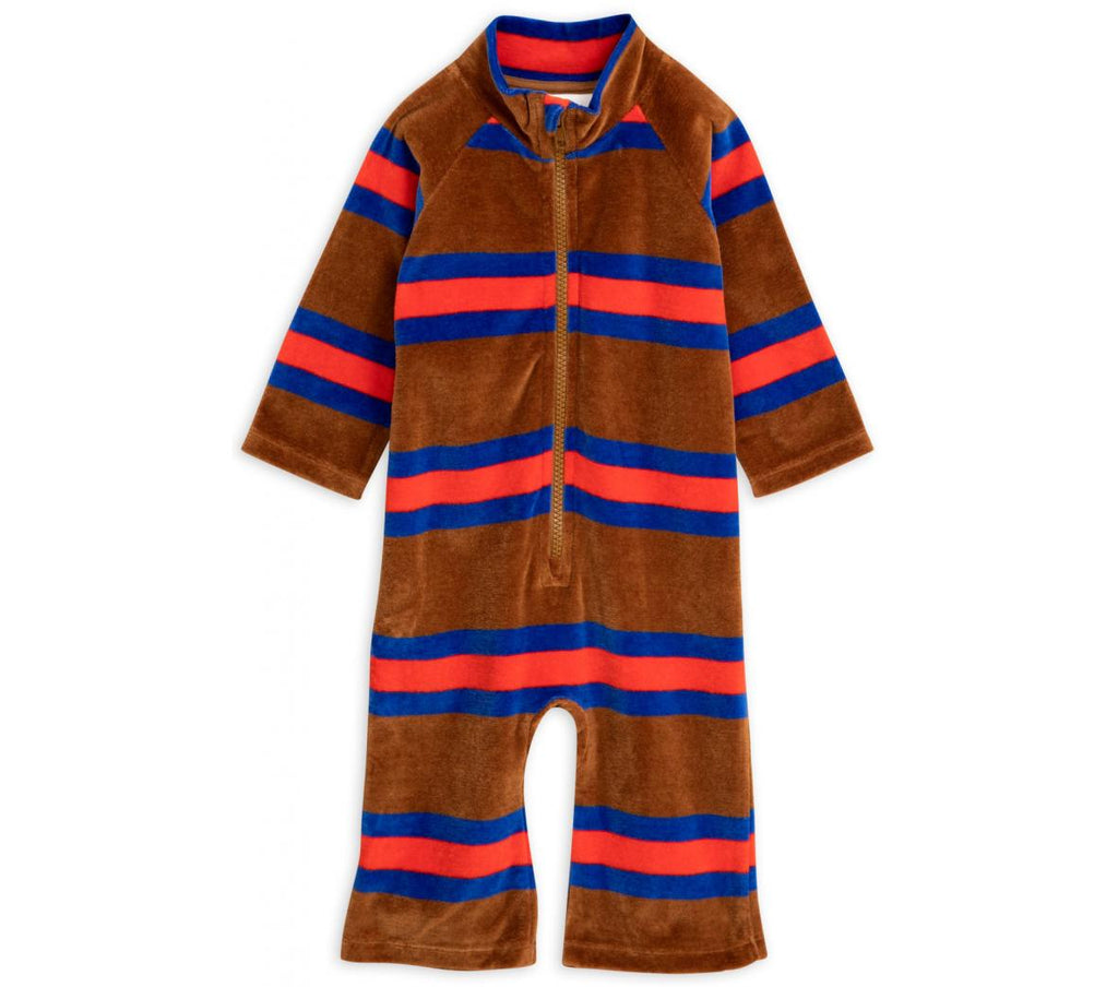 Velour stripe onesie - Cemarose Children's Fashion Boutique