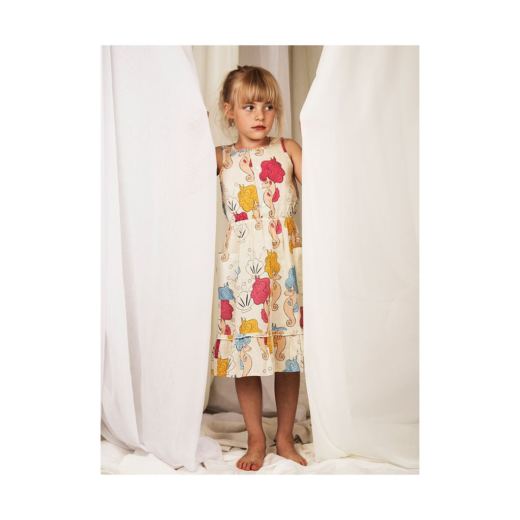 Seahorse flounce Dress, OFFWHITE - Cemarose Children's Fashion Boutique