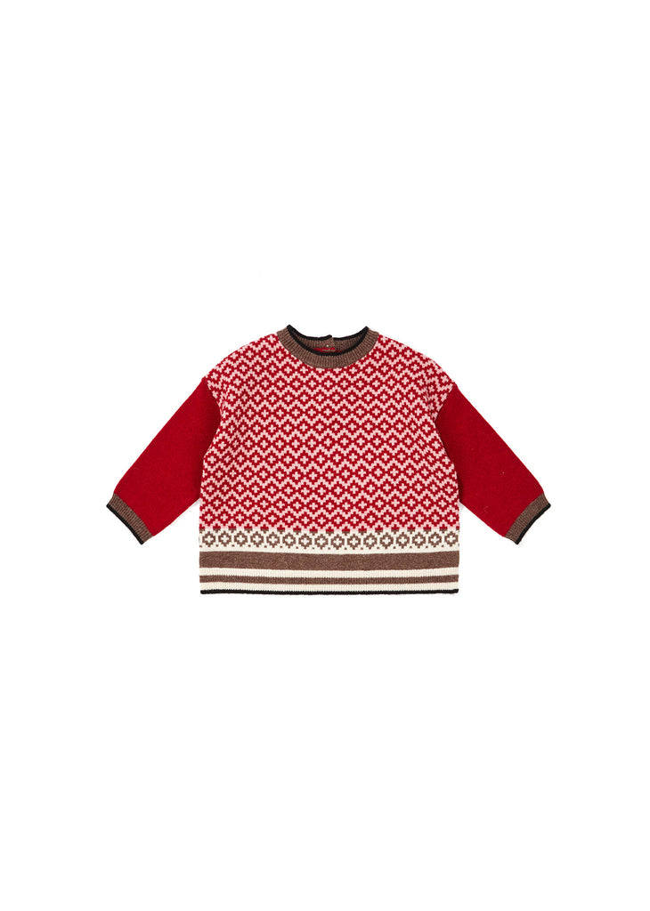 MINOS BABYJUMPER, WINTER BERRY - Cemarose Children's Fashion Boutique