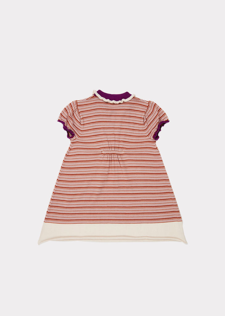 NARWHALE DRESS,LAVENDER STRIPE