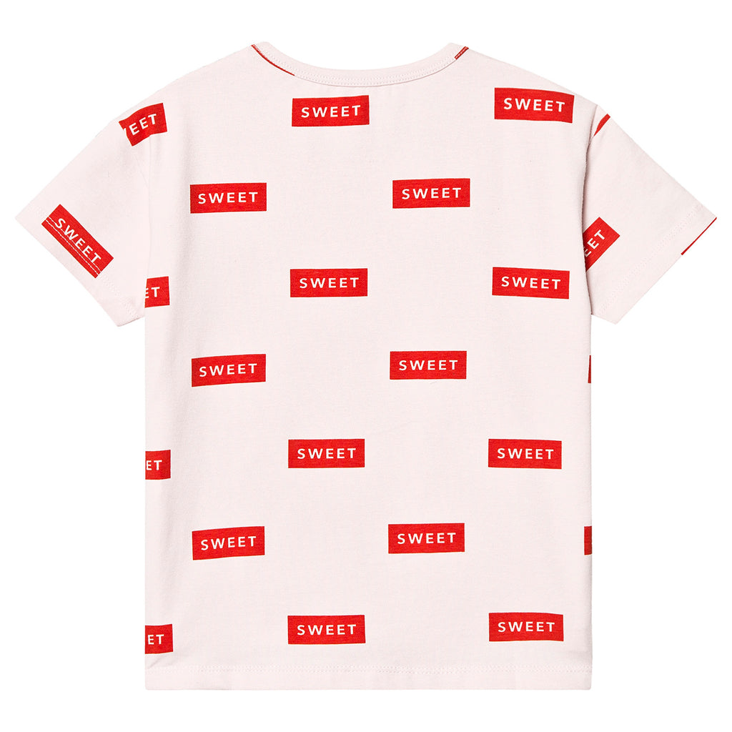 SS19-SWEET,SS TEE pearl/red - Cemarose Children's Fashion Boutique