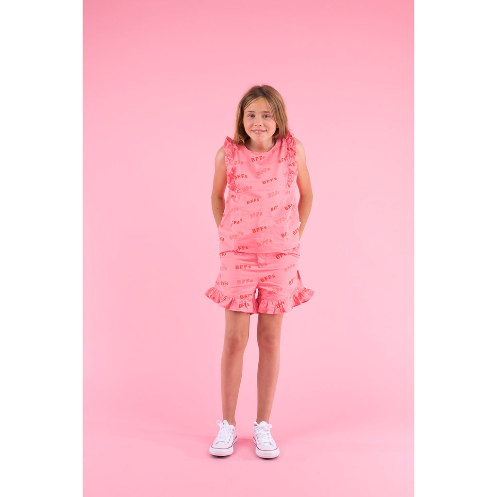 SS19-BFFs,RUFFLES BLOUSE rose/red - Cemarose Children's Fashion Boutique
