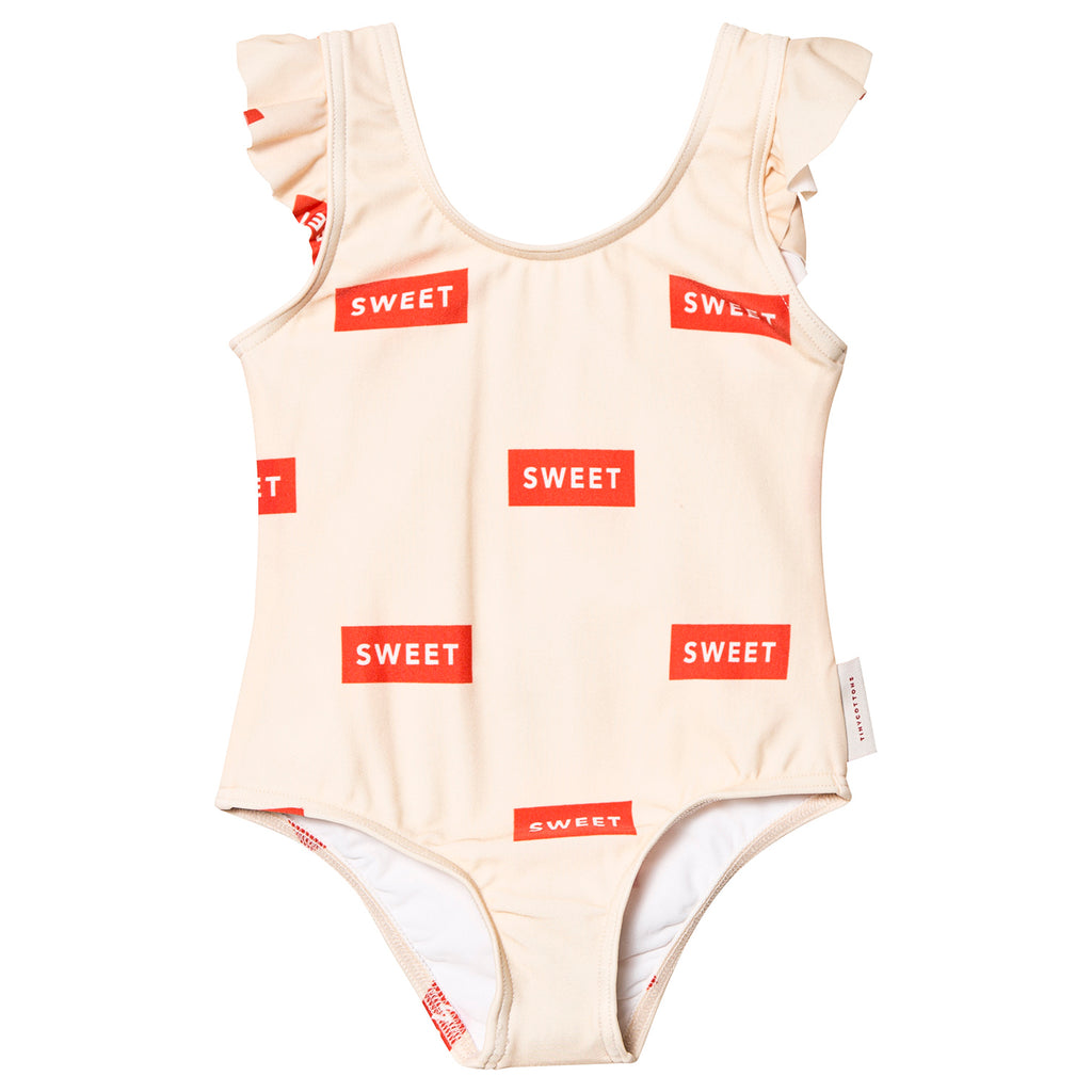 SWEET FRILLS SWIMSUIT, cream/red - Cemarose Children's Fashion Boutique