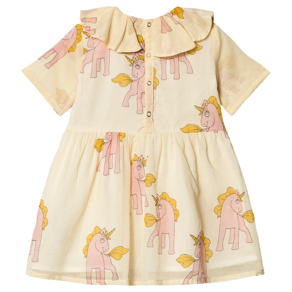 Unicorns ss woven dress, Yellow