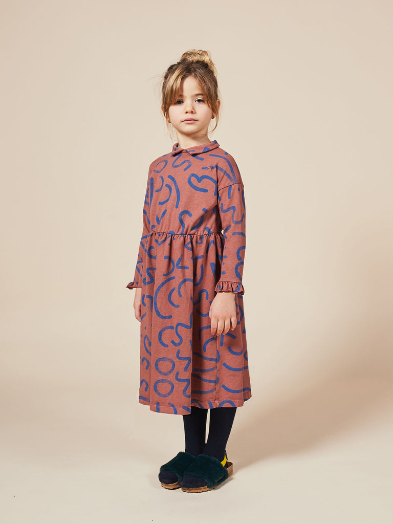 Curved Lines All Over Dress