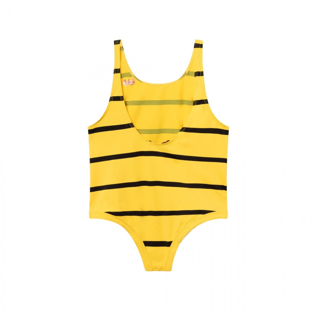 FISH KIDS SWIMSUIT, YELLOW STRIPES - Cemarose Children's Fashion Boutique