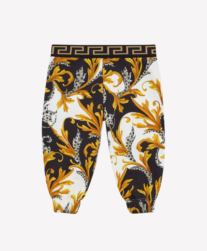BABY SWEATPANT,WHITE-BLACK-GOLD