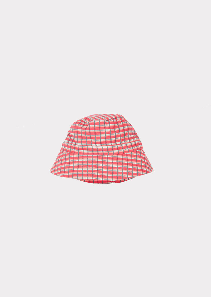 WEMBLEY BABY HAT, RED PAINTED CHECK