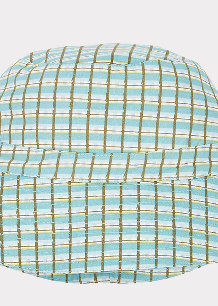 WEMBLEY HAT, TOURMALINE PAINTED CHECK