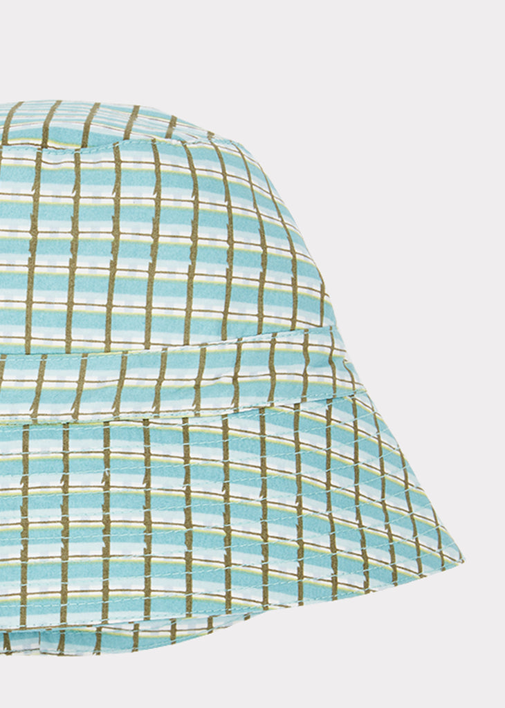 WEMBLEY HAT, TOURMALINE PAINTED CHECK - Cemarose Children's Fashion Boutique