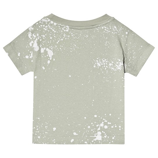 ROOSTER KIDS T-SHIRT, GREEN SPLASHES