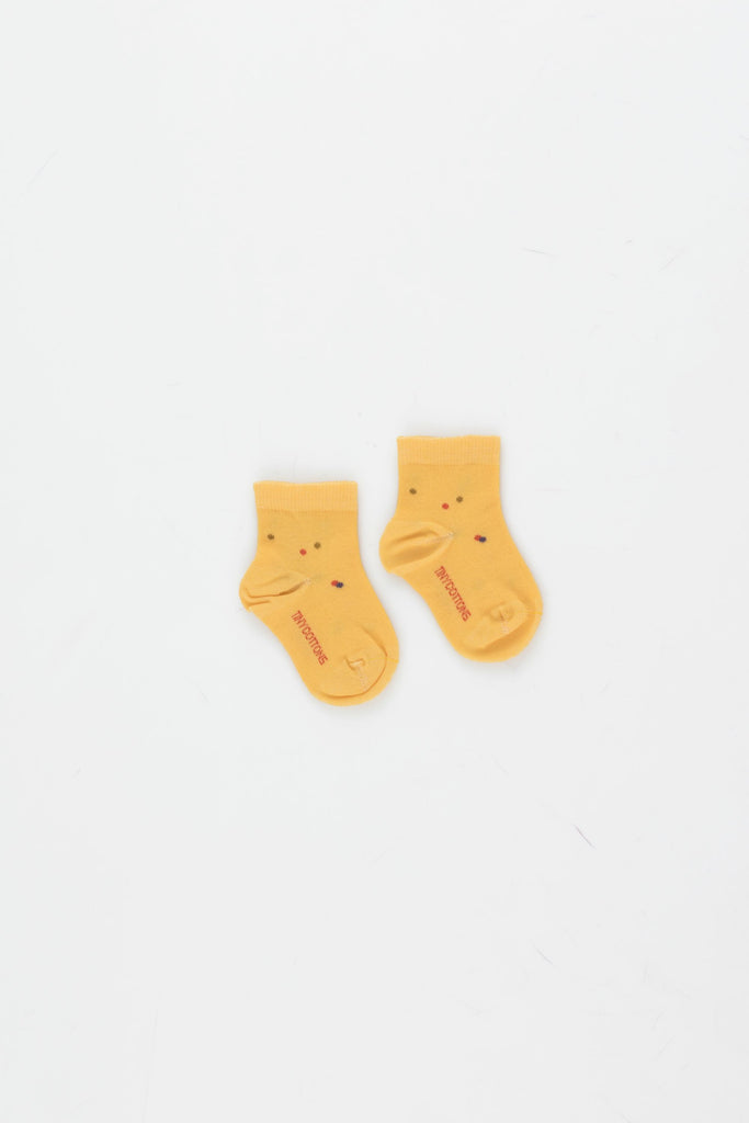ICE CREAM DOTS QUARTER SOCKS yellow