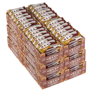 Military Energy Gum contains 100mg of caffeine per piece of Cinnamon flavor. Case includes 12 trays with 24 packs per tray.