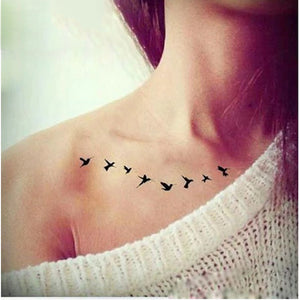 Flying Birds Waterproof Temporary Tattoo