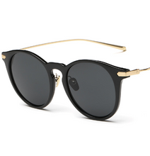 Load image into Gallery viewer, Minimal Black and Gold Sunglasses
