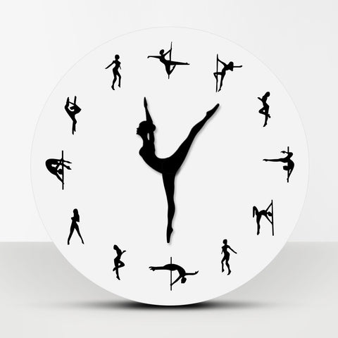 Pole Dancing Wall Clock