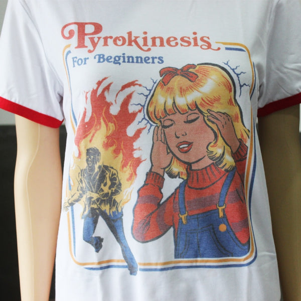 "Hipster ""Pyrokinesis For Beginners"" T-Shirt"