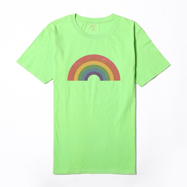 Vintage Look Rainbow Shirt