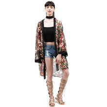 Load image into Gallery viewer, Long Print Kimono