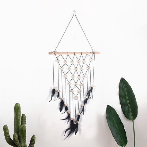 Release your inner hippie with this Macrame woven wall hanging tapestry.  Made of wood and cotton, it is machine washable and easy to match to all kinds of room styles. Its delicated intricate design makes it the perfect gift for friends and family!