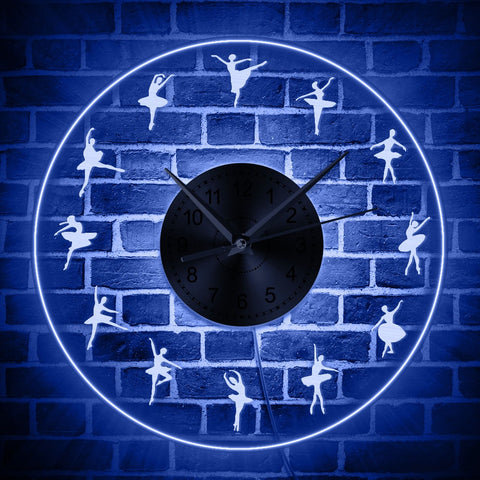 Iconic Dancers Transparent LED Wall Clock