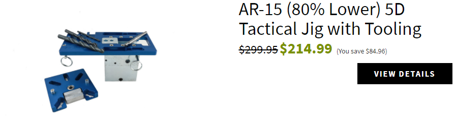AR-15 (80% Lower) 5D Tactical Jig with Tooling