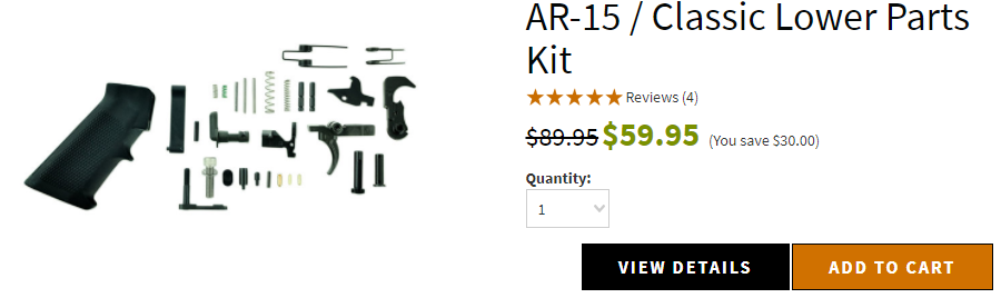 AR-15 / Classic Lower Parts Kit