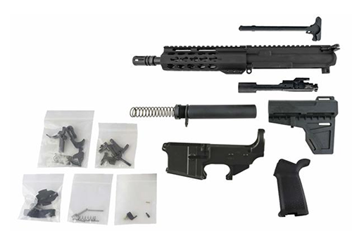 An AR-15 Pistol Kit with Shockwave Pistol Brace and Lower Parts Kit