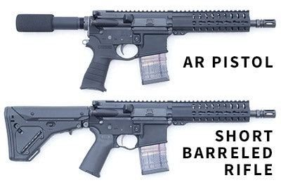 AR-15 Pistol vs Short Barreld Rifle (SBR)