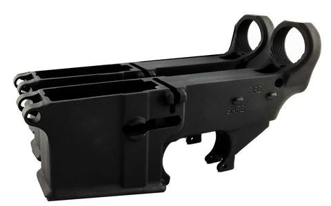 Black 80% Lowers Fire/Safe Engraved (2-Count) - AR-15 Lower Receivers
