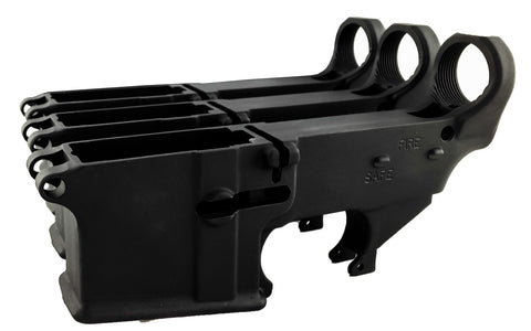 Black 80% Lowers Fire/Safe Engraved (3-Count) - AR-15 Lower Receivers