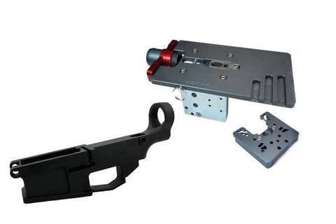 AR-10 Fire/Safe Marked 80% Billet Lower (1-pack) & Easy Jig Gen 2 Multi Platform w/ Tooling - AR-15 Lower Receivers