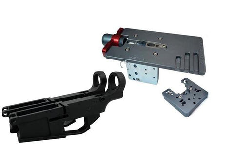 AR-10 Fire/Safe Marked 80% Billet Lower (2-pack) & Easy Jig Gen 2 Multi Platform w/ Tooling - AR-15 Lower Receivers