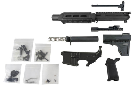 "AR-15 Pistol Kit (5.56 Caliber, 7"" Barrel & Fixed Sight Magpul Hand Guard) w/ 80% Lower Receiver - AR-15 Lower Receivers"