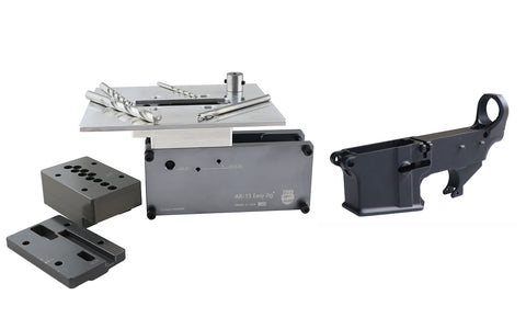 Black 80% Lower & Easy Jig with Tooling - AR-15 Lower Receivers
