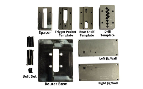 80% Arms Lower Receiver Jig (Router Machining) Replacement Parts - AR-15 Lower Receivers