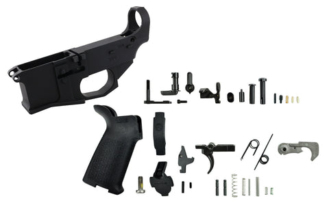 Premium Billet 80% Lower Fire/Safe Marked with Premium Lower Parts Kit (AR-15) - AR-15 Lower Receivers