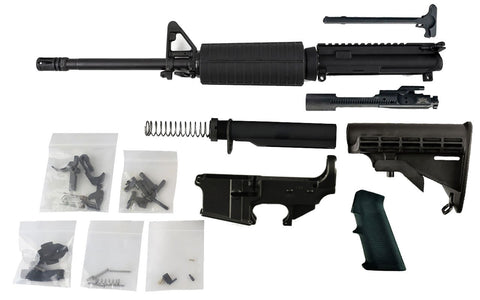 "Freedom Build Kit - 300 Blackout (16""  Barrel & Fixed Front Sight) with Fire/Safe Engraved 80% Lower - AR-15 Lower Receivers"