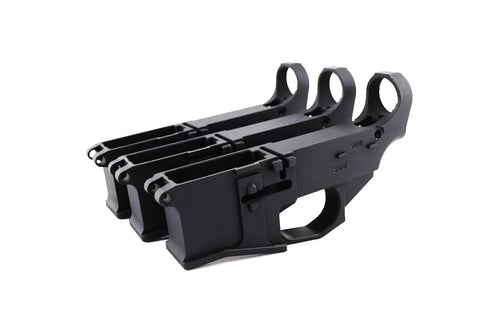 Premium Black 80% Lowers Billet Fire/Safe Engraved (3-Count) - AR-15 Lower Receivers