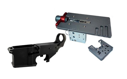 Black 80% Lower Fire/Safe Engraved (1-pack) &  Easy Jig Gen 2 with Tooling - AR-15 Lower Receivers