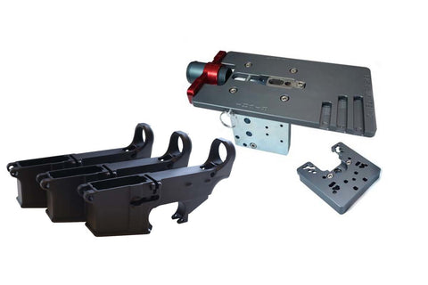 Black 80% Lower (3-Pack) &  Easy Jig Gen 2 with Tooling - AR-15 Lower Receivers