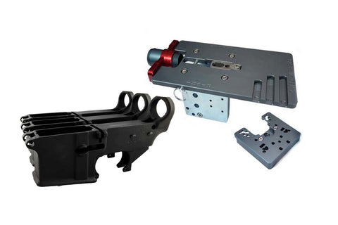 Black 80% Lower Fire/Safe Engraved (3-pack) &  Easy Jig Gen 2 with Tooling - AR-15 Lower Receivers