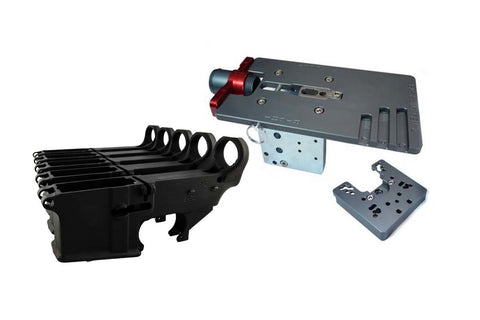 Black 80% Lower Fire/Safe Engraved (5-pack) &  Easy Jig Gen 2 with Tooling - AR-15 Lower Receivers