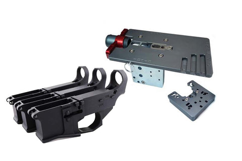 Premium Billet 80% Lower Fire/Safe Marked (3-Pack) &  Easy Jig Gen 2 with Tooling - AR-15 Lower Receivers