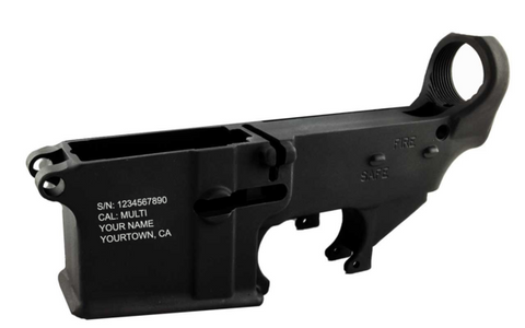 CA Compliant Serialized 80% Lower - AR-15 Lower Receivers