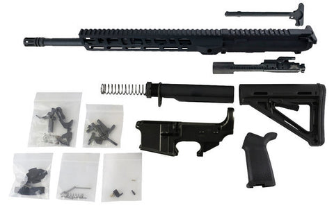 "AR-15 Build Kit - 5.56 (12"" M-Lok Handguard & 16"" Barrel) with Fire/Safe Engraved 80% Lower  Receiver"