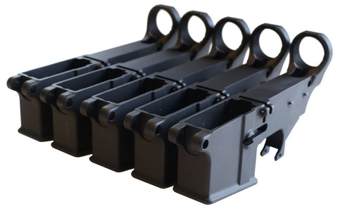 Black 80% Lowers (5-Count) - AR-15 Lower Receivers
