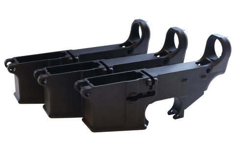 Black 80% Lowers (3-Count) - AR-15 Lower Receivers